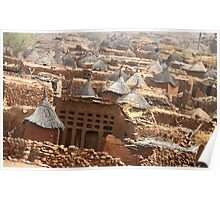 Traditional Dogon Village - Indelou, Mali Poster