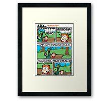 ZEEK ... The Martian Geek - antennae comic Framed Print