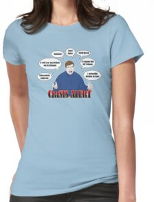 Community -- CRISIS ALERT! Womens Fitted T-Shirt