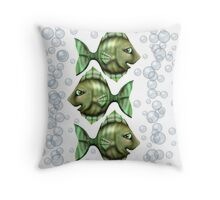 Angie with bubbles Throw Pillow