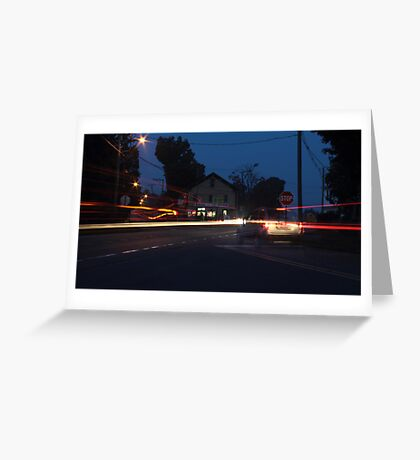 The Ghost Vehicle Greeting Card
