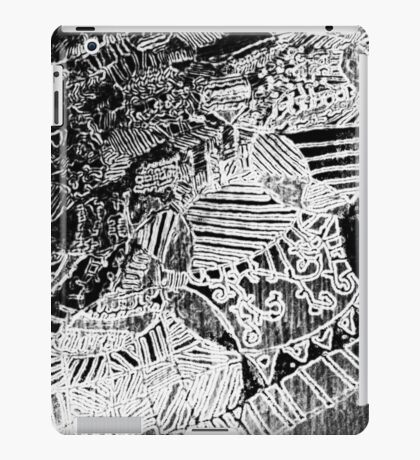 Charcoal Relief Print iPad Case/Skin