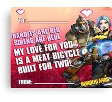 Borderland Valentine  Canvas Print