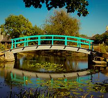 Monet Bridge at Cox Arboretum by Tom Aguero
