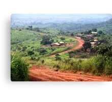 Orange Winding Road - Ring Road, Cameroon Canvas Print