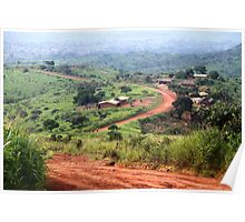 Orange Winding Road - Ring Road, Cameroon Poster