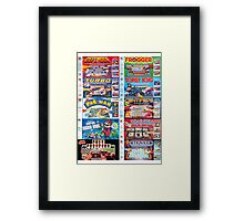 Arcade Board Games Framed Print