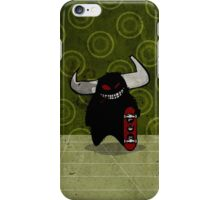 fuzzy demon skateboarder iPhone Case/Skin