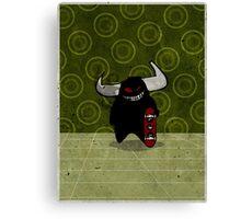 fuzzy demon skateboarder Canvas Print