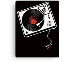 Record Player Audio Analog Vinyl Old School Music Geek Vintage Design Canvas Print