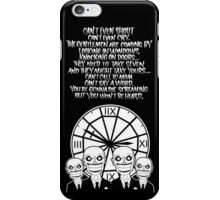 HUSH Clocktower poster iPhone Case/Skin