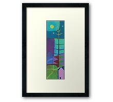 Full Moon in the Forest Framed Print