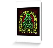 Great Cthulhu ( En Scarlette ) Greeting Card