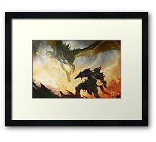 Skyrim - Draconique Armor Framed Print