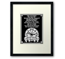 HUSH Clocktower poster Framed Print