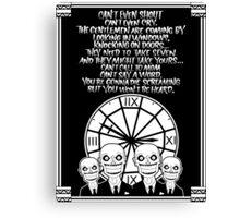 HUSH Clocktower poster Canvas Print