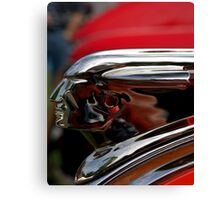"1948 Pontiac ""The Pontiac Chief"" Hood ornament Canvas Print"