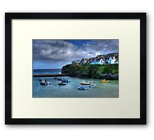 Port Isaac Harbour Cornwall Framed Print
