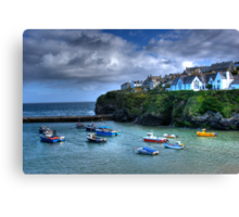 Port Isaac Harbour Cornwall Canvas Print