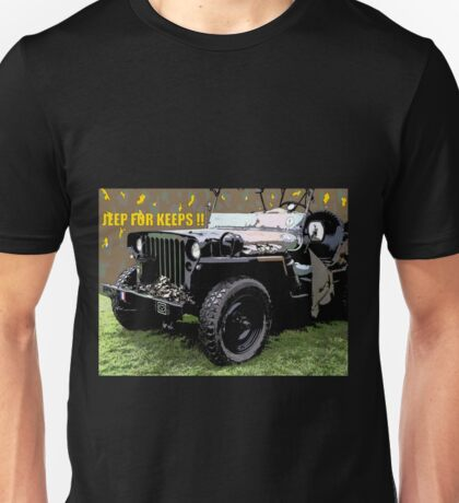 Jeep For Keeps Design Unisex T-Shirt