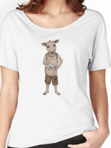 Cow / Boy Women's Relaxed Fit T-Shirt