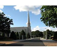 Haven of Peace - The Preston England Temple Photographic Print