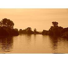 Hazy Norfolk Broads Photographic Print