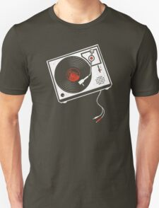 Record Player Audio Analog Vinyl Old School Music Geek Vintage Design Unisex T-Shirt