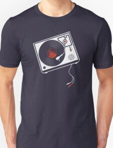 Record Player Audio Analog Vinyl Old School Music Geek Vintage Design T-Shirt