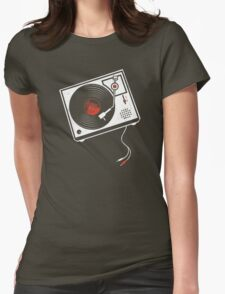 Record Player Audio Analog Vinyl Old School Music Geek Vintage Design T-Shirt