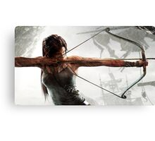 Tomb Raider - Lara Croft Hunting Canvas Print