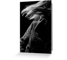 Blond woman with light through her hair Greeting Card