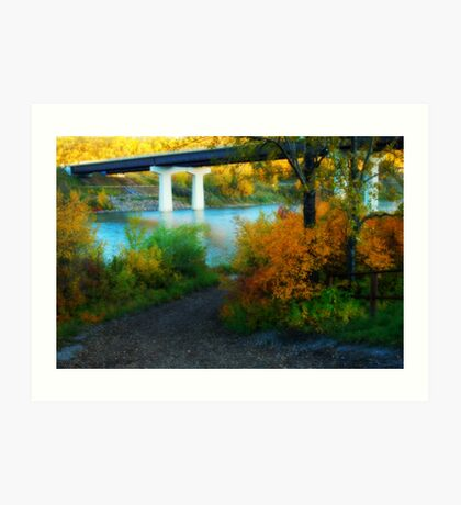 Prospectors Point  - North Saskatchewan River Art Print