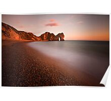 Durdle door at sunset Poster