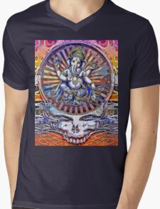 Ganeshie Mens V-Neck T-Shirt