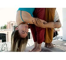 Yoga for two Photographic Print