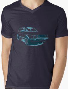 MK1 VW GOLF GTI Blue Mens V-Neck T-Shirt