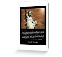Ronald Reagan Freedom Quote Greeting Card