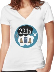 Sherlock/Doctor Who/Tfios Design Women's Fitted V-Neck T-Shirt