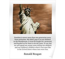 Ronald Reagan Freedom Quote Poster