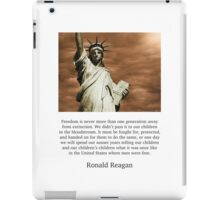 Ronald Reagan Freedom Quote iPad Case/Skin