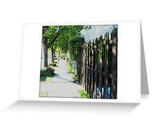 Neighborhood Pathway Greeting Card