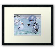 Tinny Snowman??? Framed Print