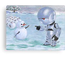 Tinny Snowman??? Metal Print