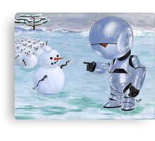 Tinny Snowman??? Canvas Print