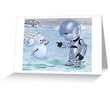 Tinny Snowman??? Greeting Card