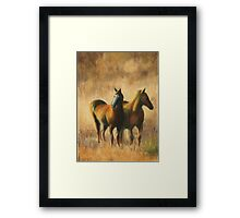 Mares on the Prairie Framed Print