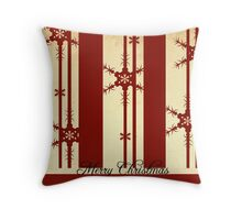 Snowflake Merry Christmas Throw Pillow