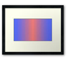 Blue/Salmon Pixel Gradient Framed Print