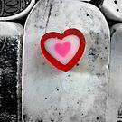 heart shaped eraser by Leeanne Middleton
